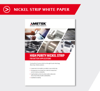 Whitepaper Nickel strip for Battery Applications